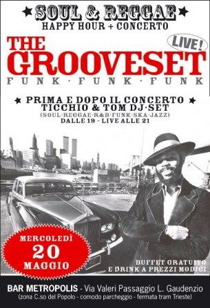flyer Grooveset al Bar Metropolis