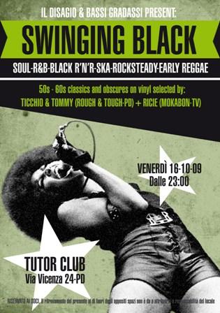 flyer Swinging Black al Tutor Club