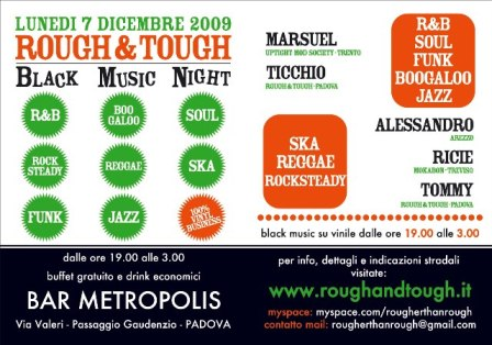 flyer Rough&Tough al Bar Metropolis