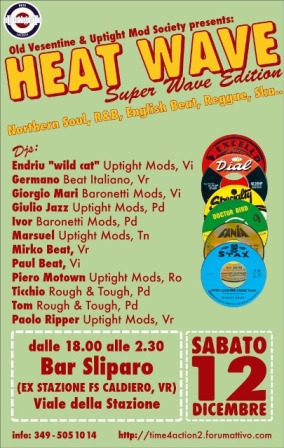 flyer Heatwave al Bar Sliparo