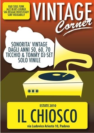 flyer Vintage Corner al Chiosco