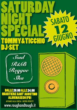 flyer Saturday Night Special a Sant'Agostino
