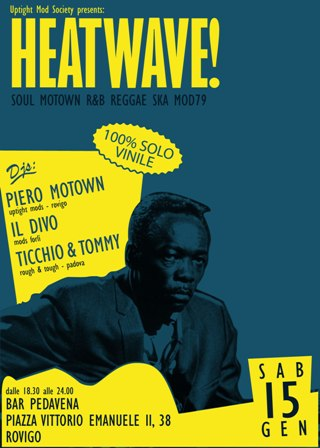 flyer Heatwave al Bar Pedavena