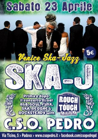flyer Ska-J e Rough&Tough al CSO Pedro