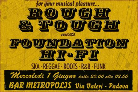 flyer Rough&Tough meets Foundation HI-FI