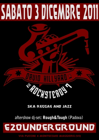 flyer David Hillyard & The Rocksteady 7 all'E20