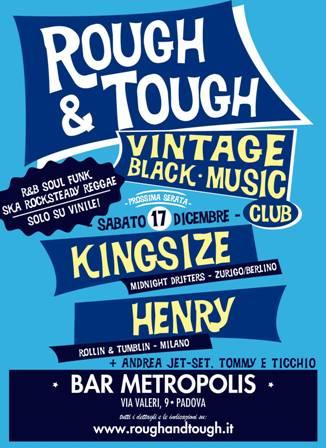 flyer Rough&Tough al Bar Metropolis 17 dicembre 2011