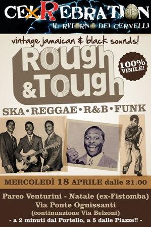 flyer del dj-set ska, reggae, r&b, funk di mercoledì 18 aprile al Cerebration