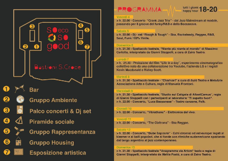 programma completo del festival «So Eco So Good» ai Bastioni Santa Croce di Padova
