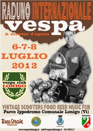 flyer Raduno Vespa Club Lonigo 2012 @ Parco Ippodromo – Lonigo, Vicenza