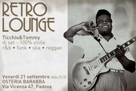flyer del dj-set di Ticchio & Tommy al Barabba di Padova