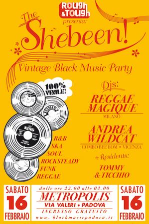 Shebeen: serata r&b soul funk ska reggae al Bar Metropolis di Padova