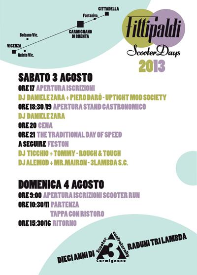 programma raduno scooter Fittipaldi Scooter Days a Carmignano di Brenta (Padova)