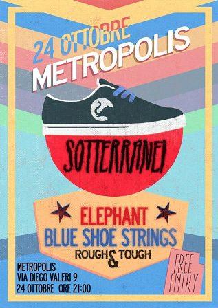 I Sotterranei a Padova al Metropolis Caffè: flyer della serata di giovedì 24 ottobre 2013