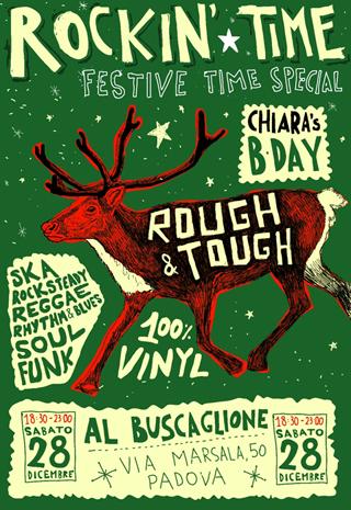 sabato 28 dicembre, serata di Natale al Buscaglione di Padova con Rough&Tough