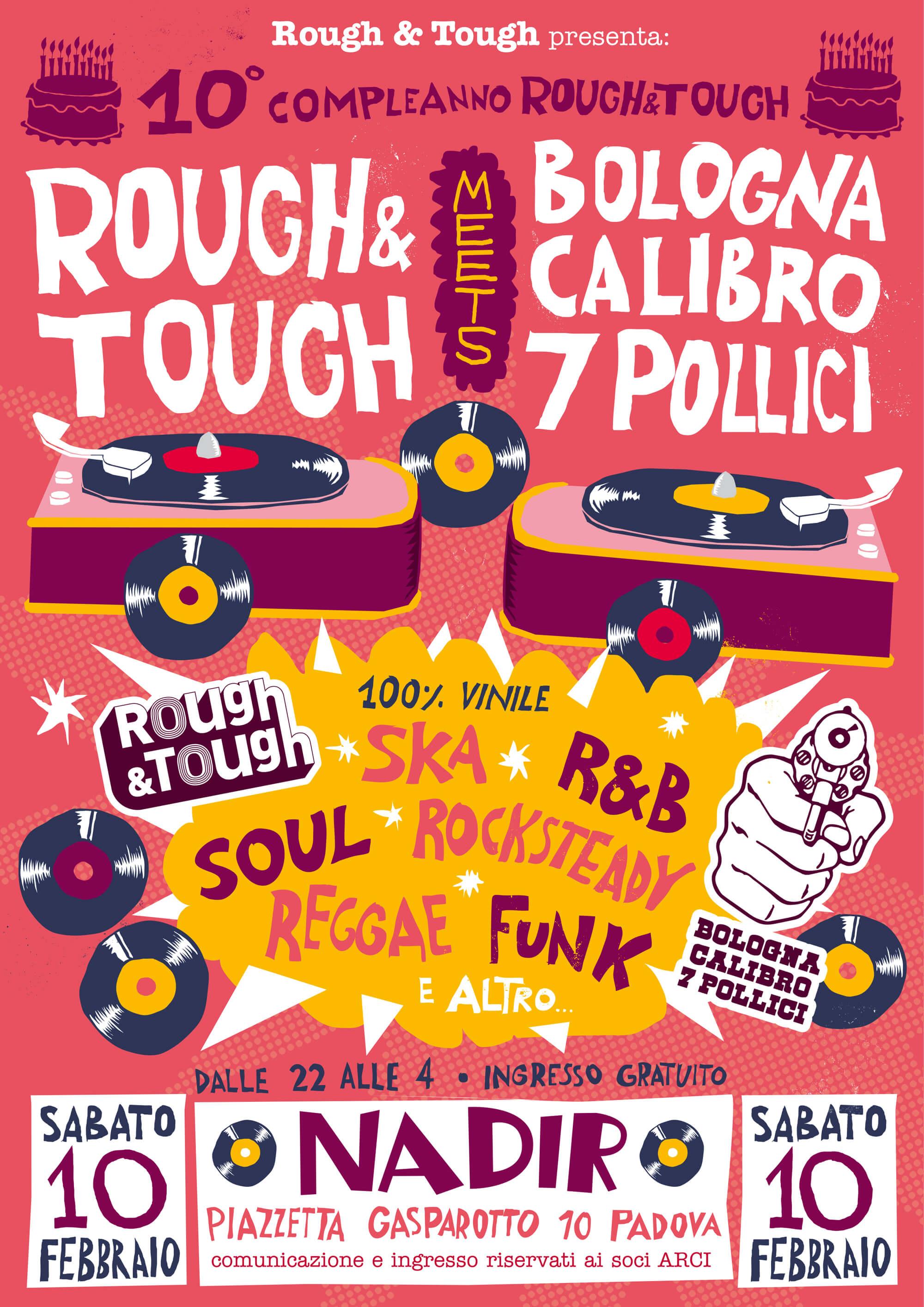 flyer serata musica reggae ska r&b soul funk, sabato 10 febbraio 2018 a Padova