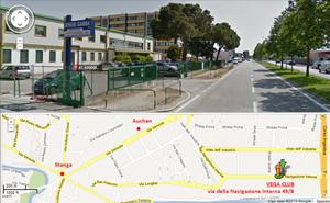 mappa indicazioni su come arrivare al Vega Club di Padova