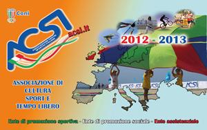tessera ACSI 2012 2013