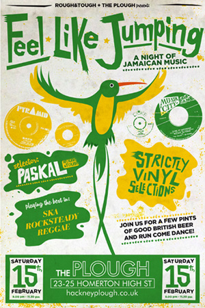 saturday night 15th February 2014, ska and reggae party at The Plough in London