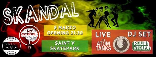sabato 8 marzo 2014: dj-set @ Saint V Skatepark, Padova