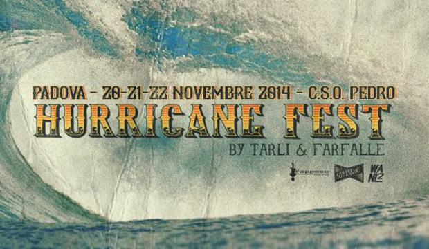 Hurricane Fest, 20-23 novembre CSO Pedro Padova
